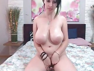 Cutie with big tits loves masturbating on webcam live