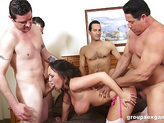 Erotic group intercourse for dramatize expunge busty amateur wife