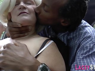 Mother brit successful head and riding