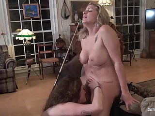 Hot amateur sapphic MILFs licking and fingering