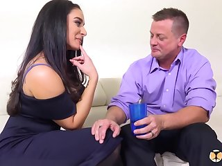 Brunette, Sheena Ryder is having anal carnal knowledge upon will not hear of ex after they got a bit drunk