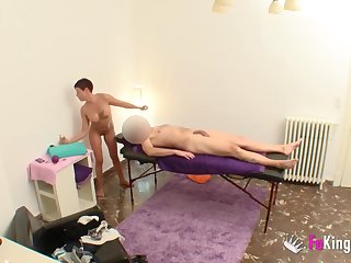 A sexy Spanish massage for this old bag