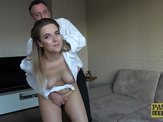 Dilettante MILF fit together Nikky Dream loves it when her husband fucks her rough