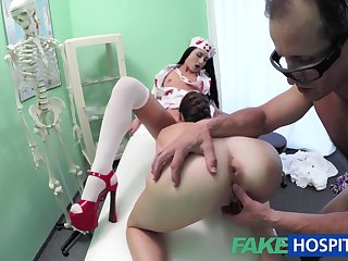 Spy Netting Cam Filmed Wild And Randy Three-Way Fuck-Fest With Nasty Doc